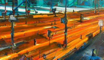 Blind vision, Oil & Aerosol, 195 x 110 cm, 2010