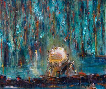 Bleeding muddy water, Oil & Aerosol, 155 x 130 cm, 2012