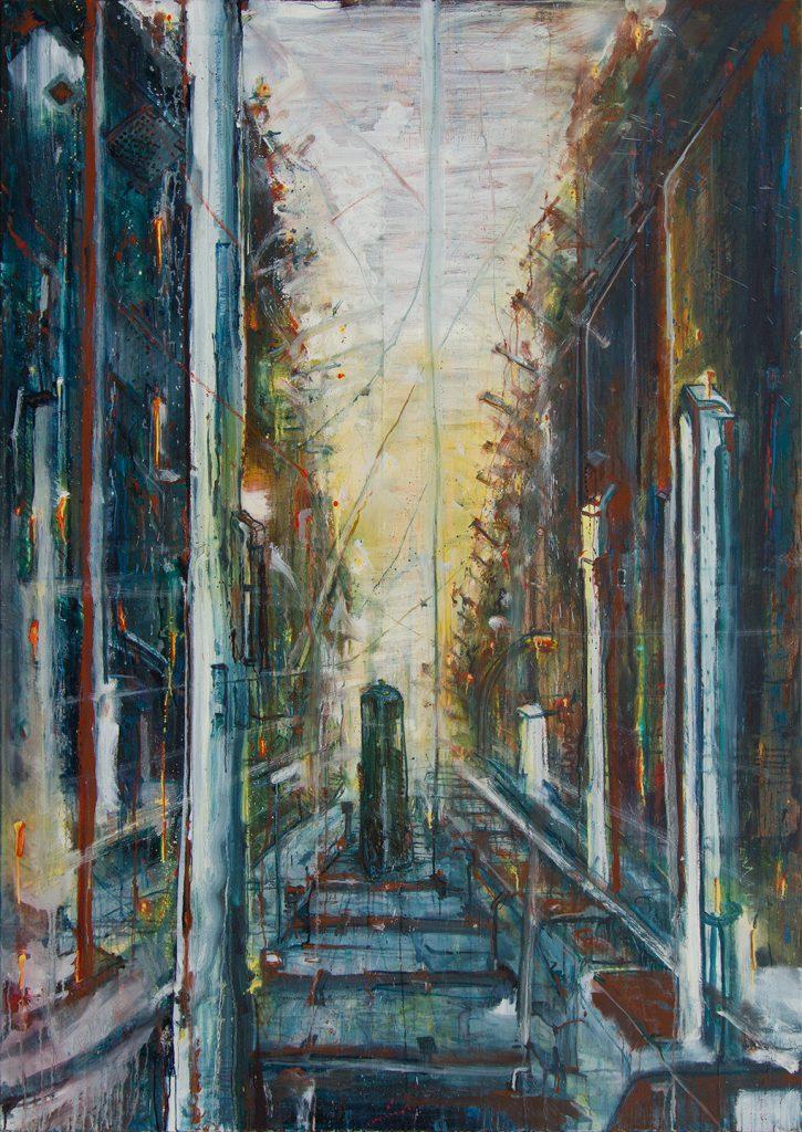 Lost tracks part 7, Oil & Aerosol, 135 x 190 cm, 2013