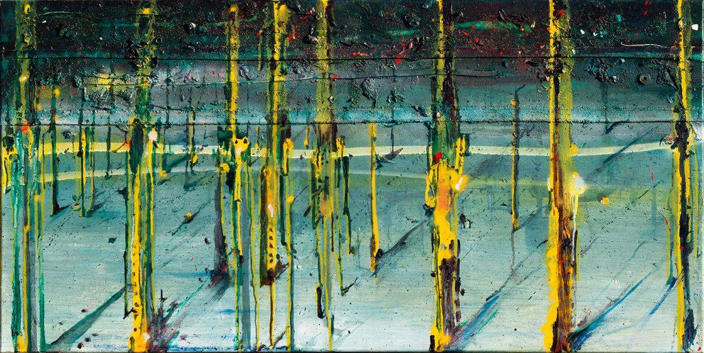 Polution, Oil, Aerosol, Glue & Garbage, 120 x 60 cm, 2013