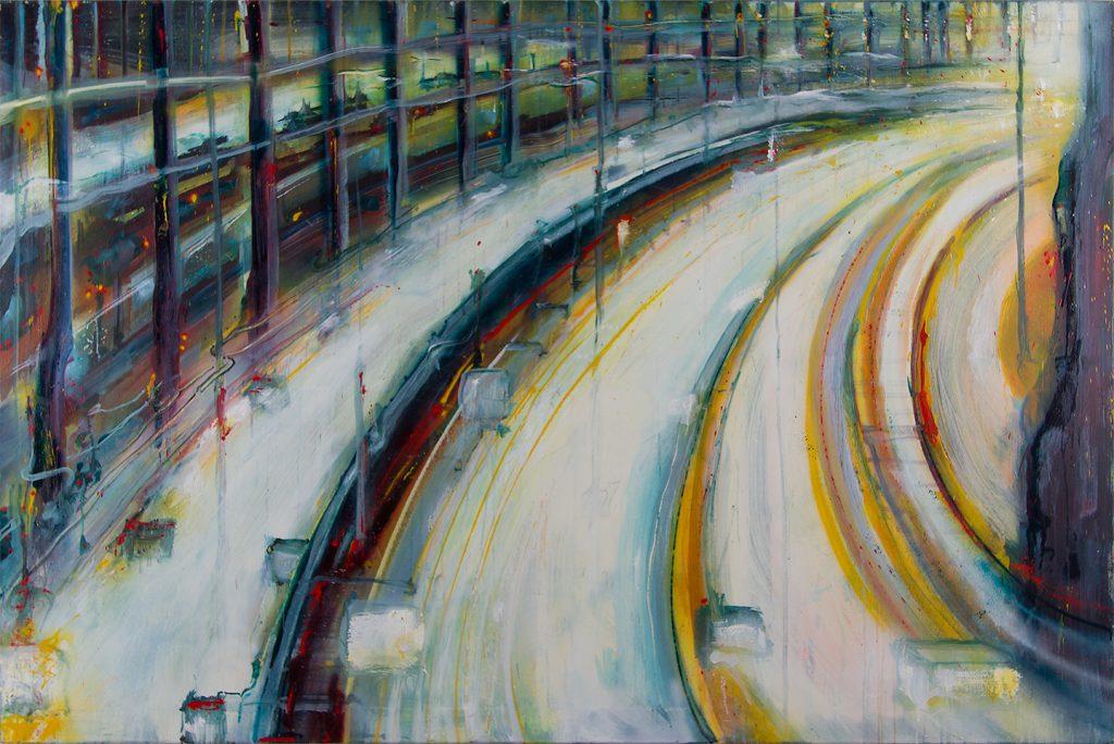 Remain in light, Oil & Aerosol, 195 x 130 cm, 2013