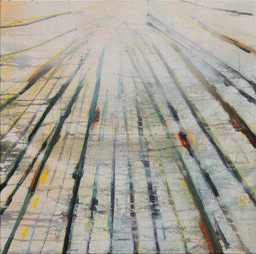 The light that falls among the trees, Oil & Aerosol, 60 x 60 cm, 2013