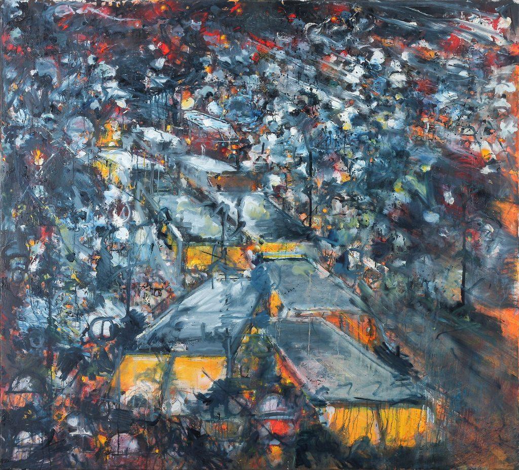 Conflict samenleving, Oil & aerosol, 170 x 154 cm, 2016