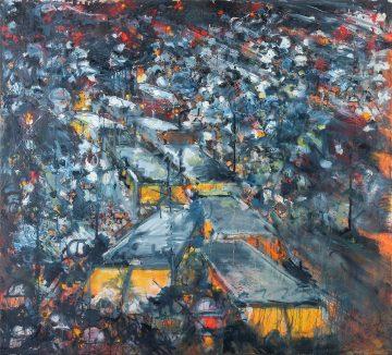 Conflict samenleving, 170 x 154 cm, Oil & aerosol, 2016